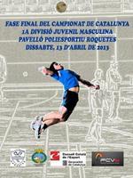 Fase final del campionat de Catalunya<br /><br /> 1a divisió juvenil masculina
