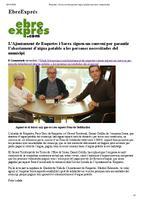 L'Ajuntament de Roquetes i Sorea signen un conveni per garantir l'abastament d'aigua potable a les persones necessitades del municipi.