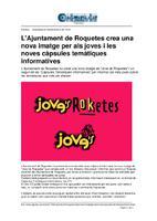 L'Ajuntament de Roquetes crea una nova imatge per als joves i les noves càpsules temàtiques informatives.