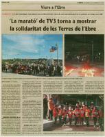 """""""La marató"""" de TV3 torna a mostrar la solidaritat de les Terres de l'Ebre"""