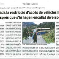 Plantejada la restricció d'accés de vehicles llargs al Port després que s'hi hagen encallat diversos busos.