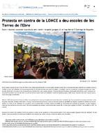 Protesta en contra de la LOMCE a deu escoles de les Terres de l'Ebre.