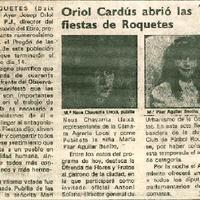 Oriol Cardús abrió las fiestas de Roquetes