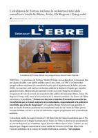 L'alcaldessa de Tortosa reclama la reobertura total dels consultoris locals de Bítem, Jesús, Els Reguers i Camp-redó.