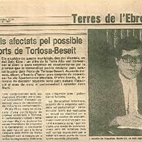 Sorpresa dels afectats pel possible parc dels Ports de Tortosa-Beseit