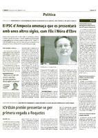 ICV-EUiA pretén presentar-se per primera vegada a Roquetes