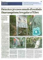 Detecten 30 casos anuals d'escalada i barranquisme irregular a l'Ebre.