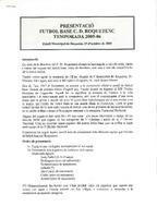 Presentació del futbol base del CD Roquetenc. Temporada 2005/2006