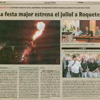 La festa major estrena juliol a Roquetes