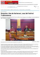 Roquetes i Mas de Barberans, seus del festival Tradicionàrius