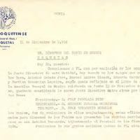 Comunicat del CD Roquetenc al Director del Banco de Huesca, 1974
