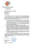 Comunicat del CD Roquetenc a la Federació Catalana de Futbol, 2005