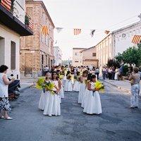 Ofrena de flors i fruits a la Raval de Cristo