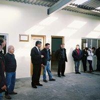 Reunió de l'Escola Taller al magatzem municipal de Roquetes