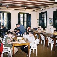 Classe d'escacs infantil al Casal de l'Hort de Cruells