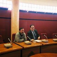 Xerrada al Saló de Plens de l'Ajuntament de Roquetes