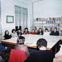 Reunió de membres de l'AMPA del CEIP Mestre Marcel·lí Domingo de Roquetes