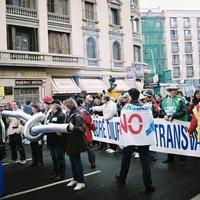 Manifestació a Barcelona en contra del Pla Hidrològic Nacional