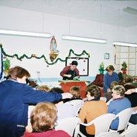 Ornaments nadalencs  a càrrec de Toni Lara, Boix Verd, a la seu de l'Associació de Dones de Roquetes.