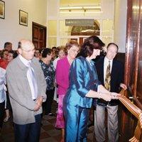 Inauguració de l'exposició de manualitats a la Llar de Jubilats