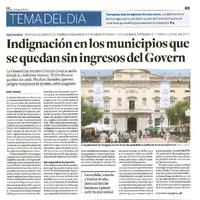 Indignación en los municipios que se quedan sin ingresos del govern