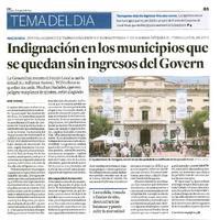 Indignación en los municipios que se quedan sin ingresos del govern