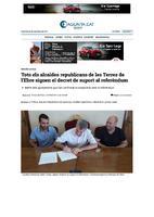 Tots els alcaldes republicans de les Terres de l'Ebre signen el decret de suport al referèndum.