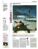 El circo de carpa vuelve al Trapezi.