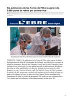 Sis poblacions de les Terres de l'Ebre superen els 2.000 punts de rebrot per coronavirus.