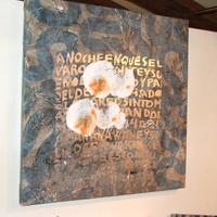 Inauguració de l'exposició de pintures de Santi González, a les Festes Majors de Roquetes l'any 2007