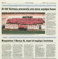 Roquetes i el Barça B, duel d'equips invictes