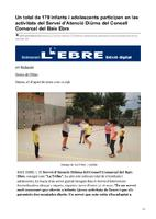 Un total de 179 infants i adolescents participen en les activitats del Servei d'Atenció Diürna del Consell Comarcal del Baix Ebre.
