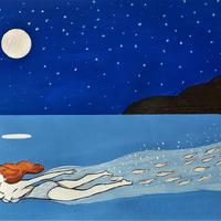 Il·lustració 'La Isla' d'Ignasi Blanch, amb text de Myriam Mézières