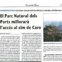 El Parc Natural dels Ports millorarà l'accés al cim de Caro