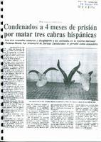 Condenados a 4 meses de prisión por matar tres cabras hispanicas