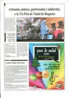Artesania, música, gastronomia i solidaritat, a la 17a Fira de Nadal de Roquetes.