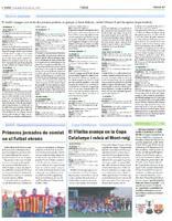 Primeres jornades de comiat en el  futbol ebrenc