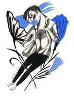 Il.lustració ' Fortalesa interna' per a Catorze.cat d'Ignasi Blanch, 2020