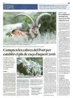 Compten les cabres del Port per establir el pla de caça d'aquest 2016