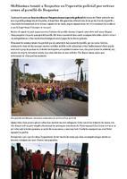 Moltíssima tensió a Roquetes en l'operatiu policial per retirar urnes al pavelló de Roquetes.