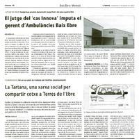 """El jutge del """"cas Innova"""" imputa el gerent d'Ambulàncies Baix EBre"""