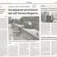 Arranjament provisional del vial Tortosa-Roquetes
