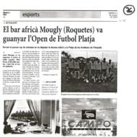 El bar africà Mougly (Roquetes) va guanyar l'Open de Futbol Platja