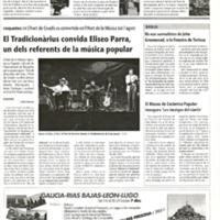 El Tradicionàrius convida Eliseo Parra, un dels referents de la música popular