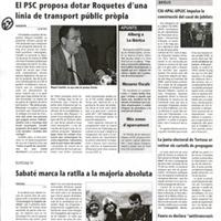 El PSC proposa dotar Roquetes d'una línia de transport públic pròpia