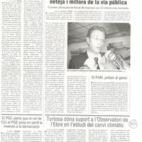Tortosa dóna suport a l'Observatori de l'Ebre en l'estudi del canvi climàtic