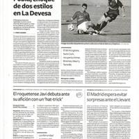 """El roquetense Javi debuta ante su afición con un """"hat-trick"""""""