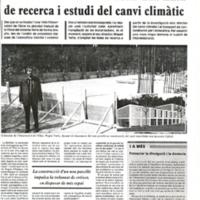 L'Observatori demana obrir una línea de recerca i estudi del canvi climàtic