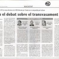 Reviu el debat sobre el transvasament
