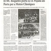 El MC Roquetes porta la IX Pujada als Ports per a Motos Clàssiques